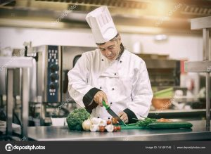 chod profesionálnej kuchyne